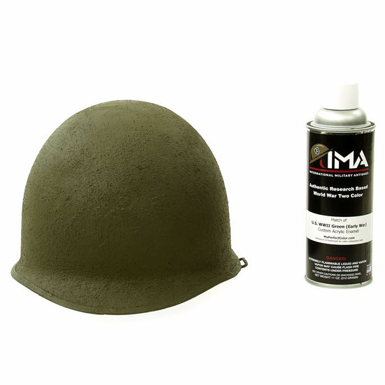 Spray Paint - U.S. WWII M1 Helmet Early War OD Green Acrylic Enamel Spray Paint New Made Items