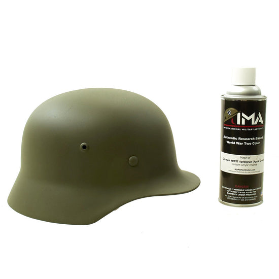 Spray Paint - German WWII Apfel Grün (Apple Green) M35 Helmet Custom Acrylic Enamel Panzergrau Spray Paint New Made Items