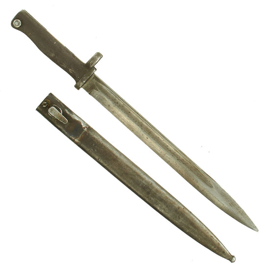 Original German WWI Steel Hilt Ersatz Bayonet with Scabbard - Carter Type EB46 Original Items
