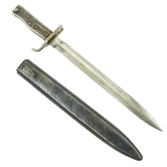 "Original German WWI Steel Hilt Ersatz Bayonet with ""FAG"" Scabbard - Carter Type EB47 Original Items"