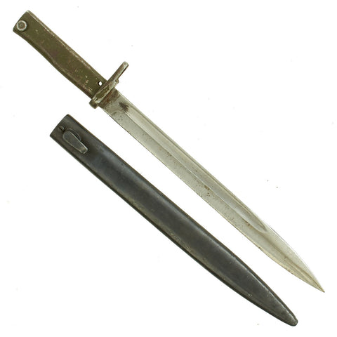 Original German WWI Steel Hilt Ersatz Bayonet with Scabbard - Carter Type EB9 Original Items
