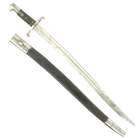 Original British P-1856/58 Yataghan Sword Bayonet with Scabbard for Enfield Short Rifle and Artillery Carbine