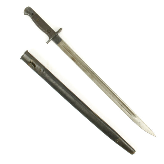 Original British WWI P-1907 Enfield Bayonet with Scabbard by Wilkinson Sword Company