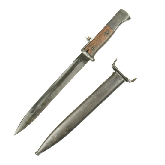 Original German WWII 98k Bayonet with Scabbard - Modified to fit M1 Garand Rifles Original Items