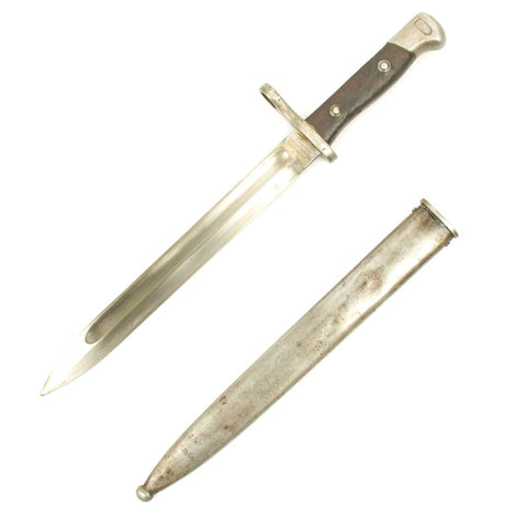 Original German-Made Chilean Contract M.1895 Mauser Bayonet with Scabbard