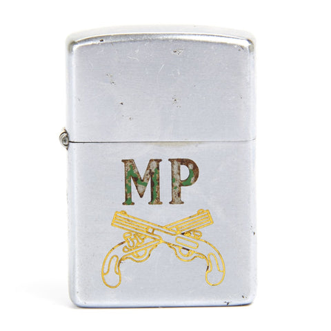 Original 1951 Korean War Zippo Lighter of the Military Police Corp MP