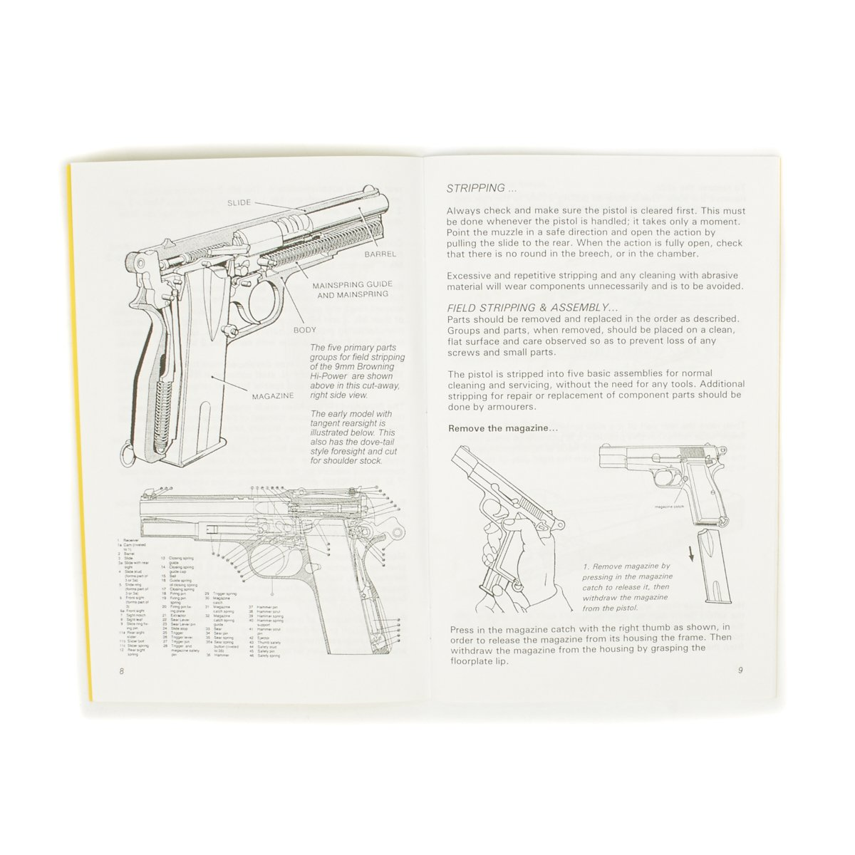 Handbook: 9mm Browning Hi-Power Pistol – International Military Antiques