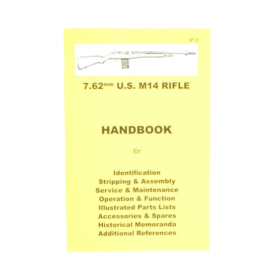 Handbook: .62mm US M14 RIFLE