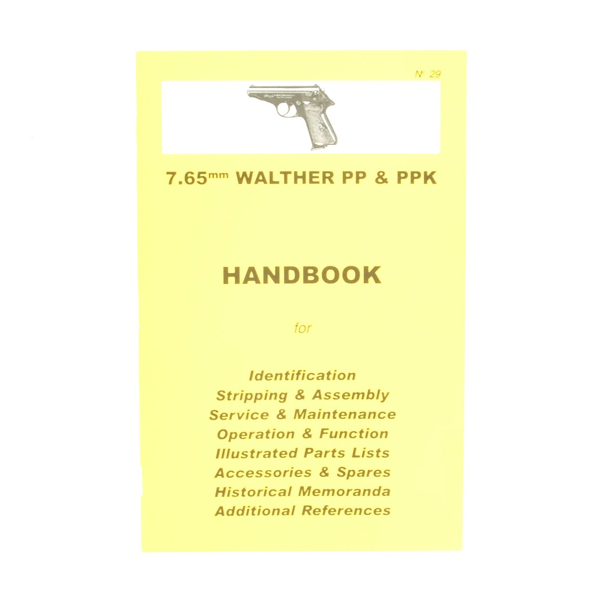 Handbook: 7 65mm WALTHER PP & PPK – International Military