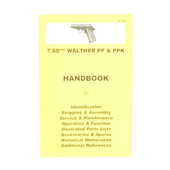 Handbook: 7.65mm WALTHER PP & PPK New Made Items