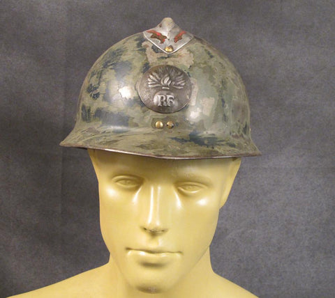 French Original Pre-WW2 Adrian M-26 Steel Helmet w/ Liner: Un-Restored