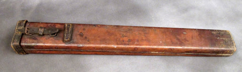 German WWI MG08 Maxim Double Barrel Carrier- Leather & Wood Construction