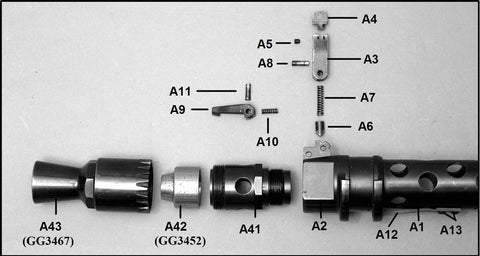 MG 34 Recoil Booster Housing: A41