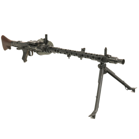 Original German WWII MG 34 Display Machine Gun with Basket Carrier - marked dot 1943 Original Items