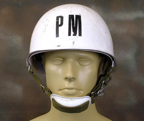 Original Military Police Helmet- Police Militaire Original Items