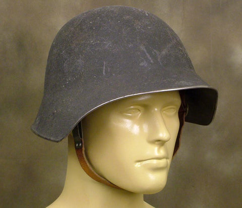 Swiss M-18 Steel Battle Helmet: WWI Era (Darth Vader)