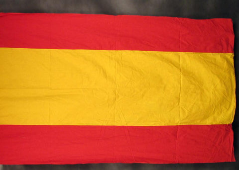 Flag: Spanish National Flag NATO Issue 4' x 7' Wool & Cotton Blend (Circa 1970s)