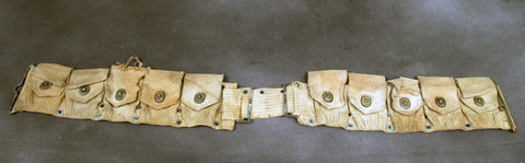 U.S. WWI/WWII Original Springfield/Garand 10 Pocket Ammunition Belt