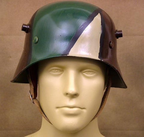 German M-1916 Turkish Pattern Steel Helmet: WWI (Camouflage Paint)