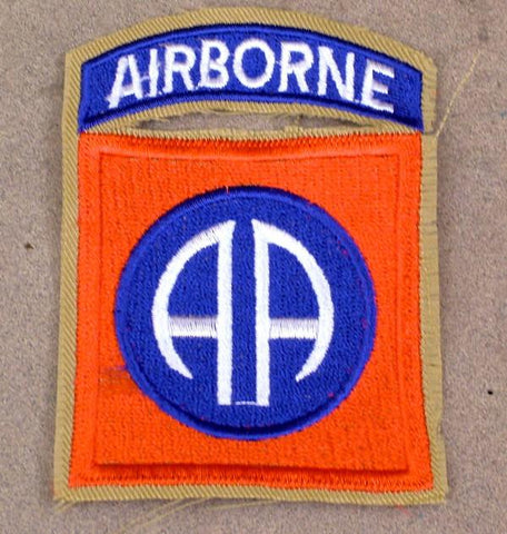 U.S. WWII 82nd Airborne Division Shoulder Patch - All American