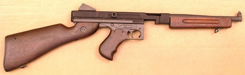 Thompson M1A1 SMG Display Gun: WWII Issue