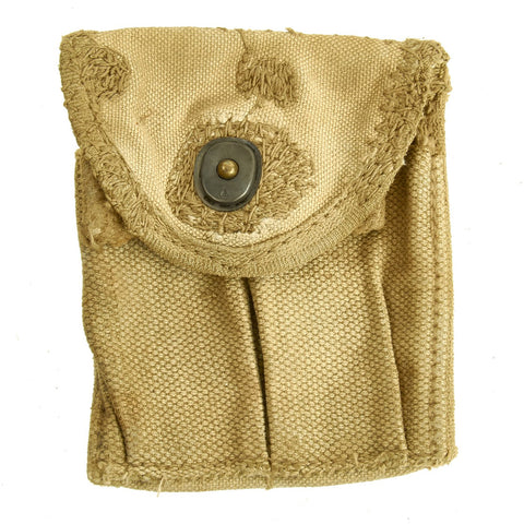 Original U.S. WWII M1 Carbine Butt Magazine Pouch- WW2 Dated Original Items