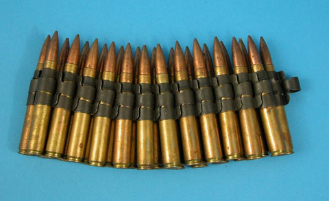 U.S. WW2 Dummy .30 cal Cartridges in Links (25 rounds)