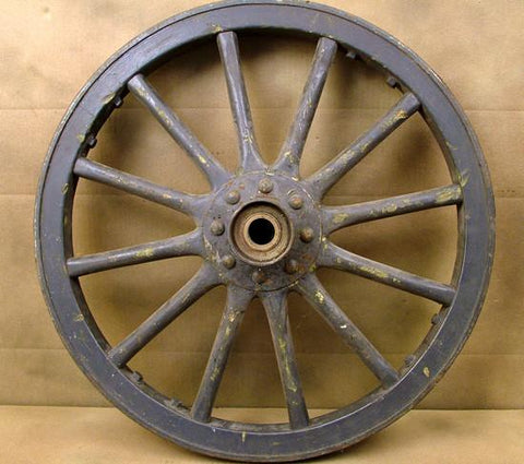 Wood Spoked Wheel Pair for Cannon & Field Artillery: 19th Century Military Surplus