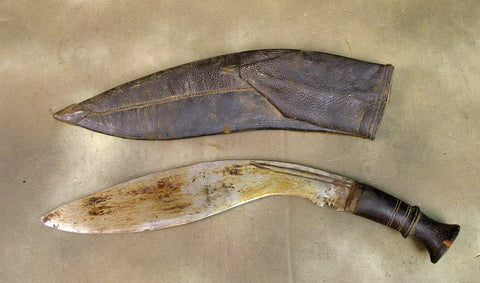 Kukri Bhojpure with Scabbard: Gurkha Issue w/ WWI Date