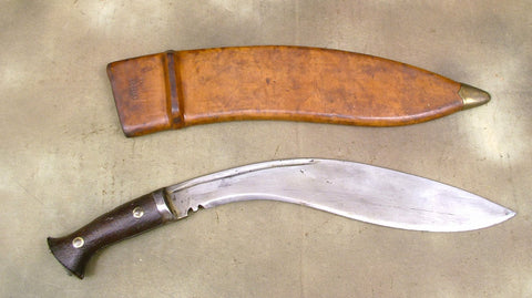 Kukri MK II Pattern w/ WW2 Markings & WW2 Dated Hard Leather Scabbard