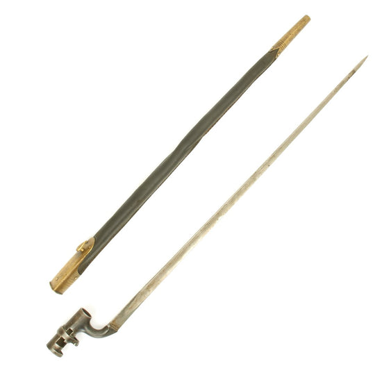 Original British Martini-Henry Rifle P-1876 Socket Bayonet with Nepalese Scabbard Original Items
