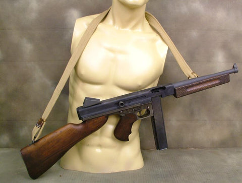 Thompson M1 SMG Display: Rare British Stocks: One Only
