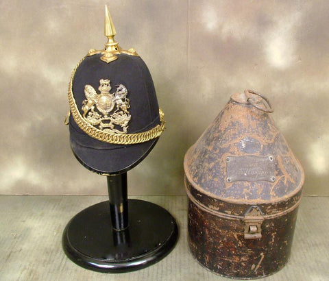 British Victorian Blue Cloth helmet: Royal Engineers, Named (One Only)