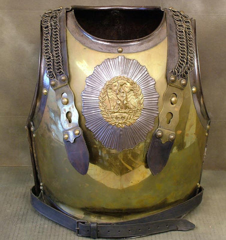 French 2nd Empire Carabiniere Armor, Excellent: Dated 1832/33 (One Only)