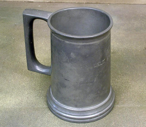British WW2 Era Named Serving Officer?s Pewter Beer Tankard (One Only) Original Items
