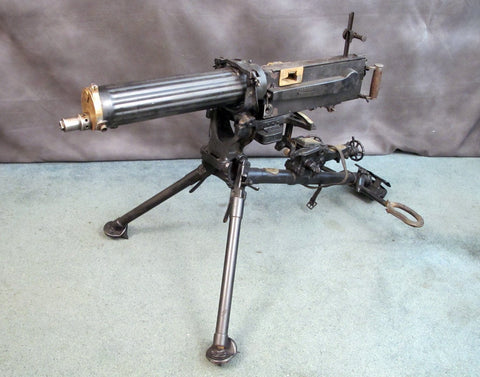 German WWI Capture Russian 1905/10 Maxim Gun on MG08 Mount (One-of-a-Kind) Original Items