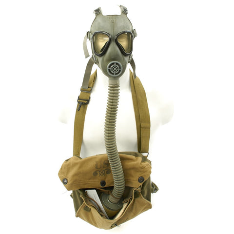 Original U.S. WWII M4 Lightweight Service Gas Mask Set - Excellent Condition