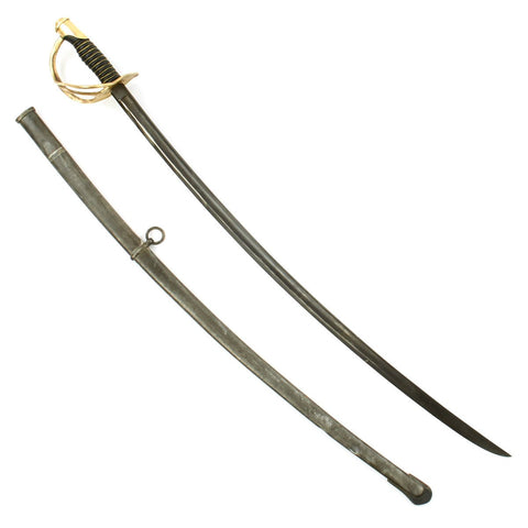 Original U.S. Civil War M1860 Light Cavalry Saber by Mansfield and Lamb with Steel Scabbard - Dated 1864