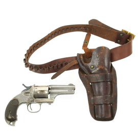 Original U.S. Merwin & Hulbert 2nd Model Pocket Army .44-40 Revolver with Cartridge Belt and Holster - Serial 96