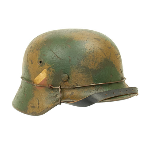 Original German WWII M40 Refurbished Grossdeutschland Helmet - Stamped EF66 Original Items
