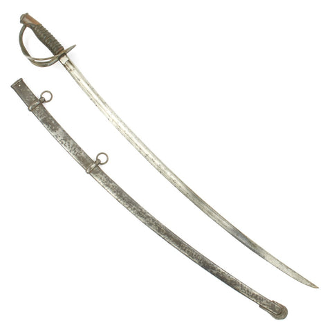 Original U.S Civil War Model 1860 Light Cavalry Saber with Steel Scabbard - dated 1861
