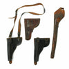 show larger image of product view 2 : Original Group of Four Leather Holsters Victorian Era to Cold War - Circa 1890 - 1950 Original Items