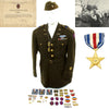 show larger image of product view 1 : Original U.S. WWII 30th Infantry Division Battle of the Bulge Silver Star Grouping Original Items