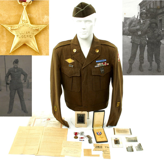 Original U.S. WWII 84th Infantry Division Engraved Silver Star Collection Original Items