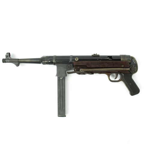 Original German WWII 1943 Dated MP 40 Display Gun by Steyr with Live Barrel - Maschinenpistole 40