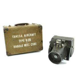 Original U.S. WWII Army Air Force Graflex K-20 Aircraft Camera with Case  - dated 1942