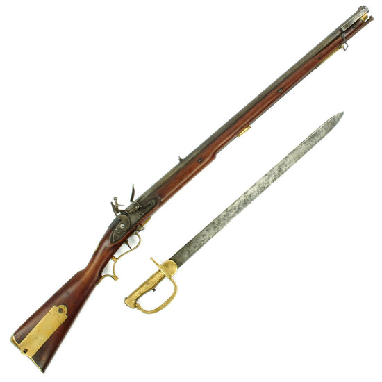 Original British Napoleonic Era P-1800 Baker Flintlock Rifle with Sword Bayonet - circa 1805
