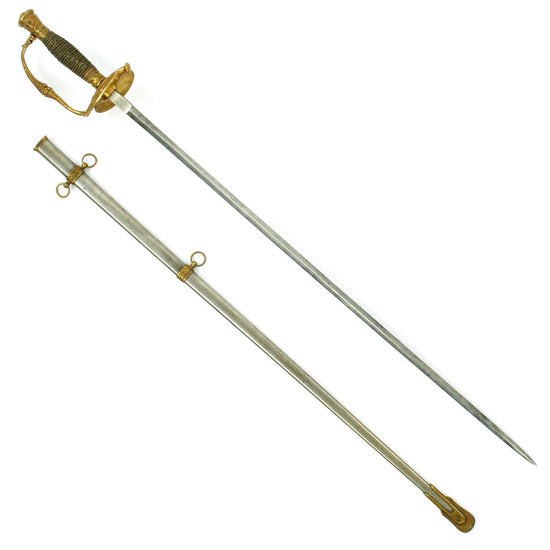 Original U.S. Civil War Army Officer's M1860 Dress Parade Sword with Folding Guard and Scabbard