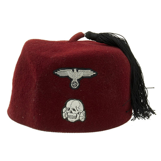 Original German WWII Waffen SS M43 Maroon Parade Fez for Foreign Volunteers