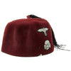 show larger image of product view 4 : Original German WWII Waffen SS M43 Maroon Parade Fez for Foreign Volunteers Original Items